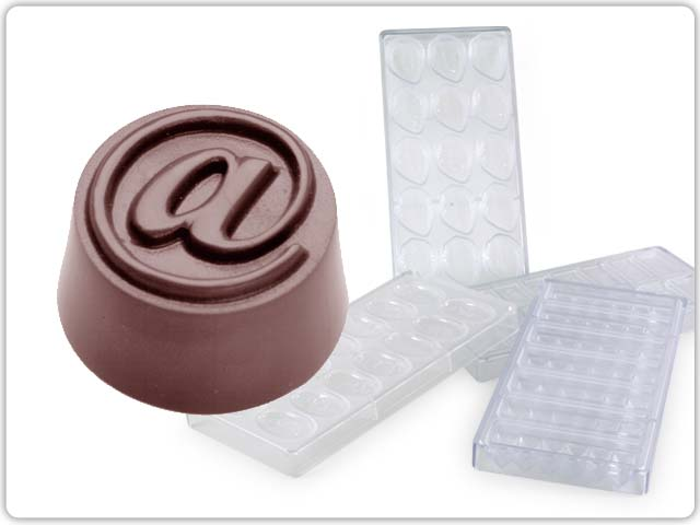 Chocolate moulds made of polycarbonate